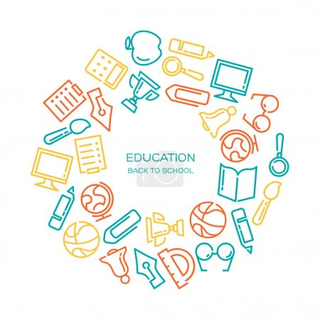 Education background with icons