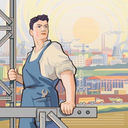 Worker back 1