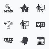 Demo with cursor icon Presentation billboard