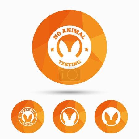 No animals testing icons. Non-human experiments.