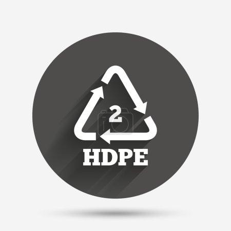 Pe-hd 2 icon. Polyethylene high-density sign. Recy...