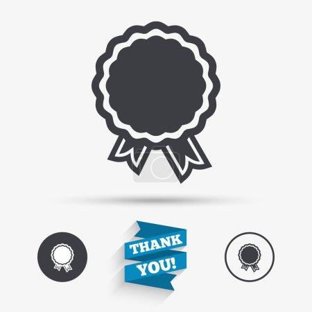 Award icon. Best guarantee symbol.