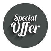 Special offer sign icon Sale symbol