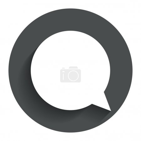 Illustration for Chat sign icon. Speech bubble symbol. Communication chat bubbles. Circle flat button with shadow. Modern UI website navigation. Vector - Royalty Free Image