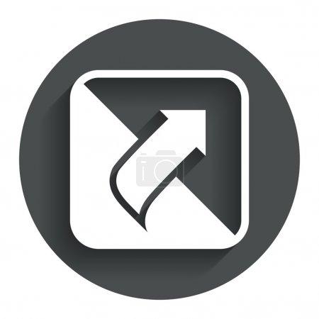 Turn page sign icon. Peel back sheet corner.