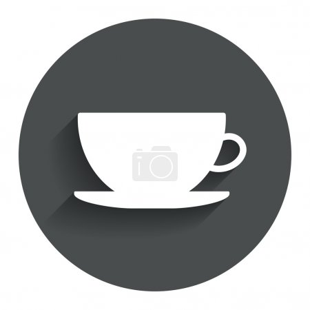 Coffee cup sign icon. Coffee button.