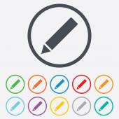Pencil sign icon Edit content button