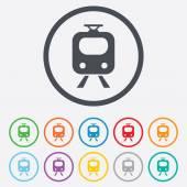 Subway sign icon Train underground symbol
