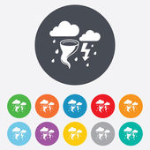 Storm bad weather sign icon Gale hurricane