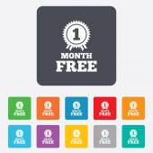 First month free sign icon Special offer symbol