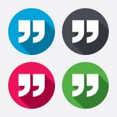 Quote sign icons