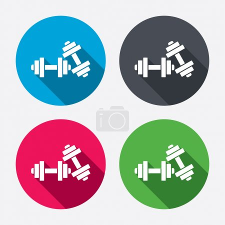 Dumbbells sign icons.