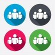 Group of people sign icon. Share symbol. Circle bu...