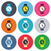 Wrist Watch sign icons