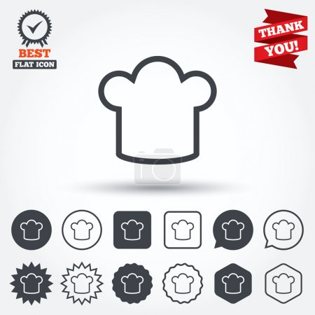 Chef hat sign icons
