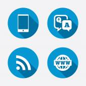 Smartphone and chat bubble symbols