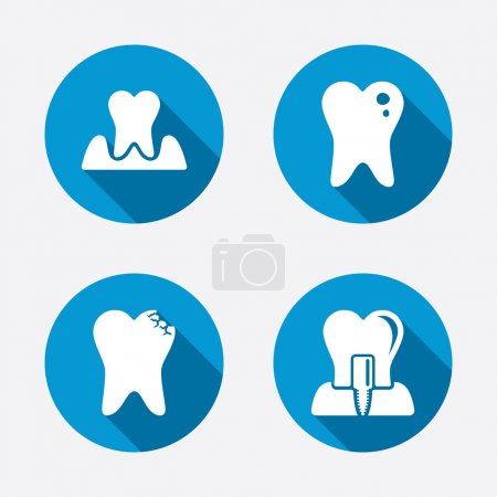 Dental care icons.