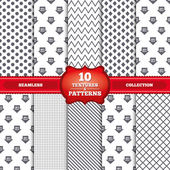 Repeatable patterns and textures Sale arrow tag icons Discount special offer symbols 10 20 30 and 40 percent sale signs Gray dots circles lines on white background Vector