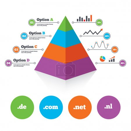 Pyramid chart template.