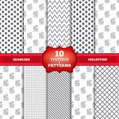 Repeatable patterns and textures After opening use icons Expiration date 9-36 months of product signs symbols Shelf life of grocery item Gray dots circles lines on white background Vector