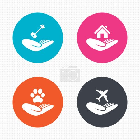 Helping hands icons.