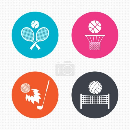 Tennis rackets with ball.