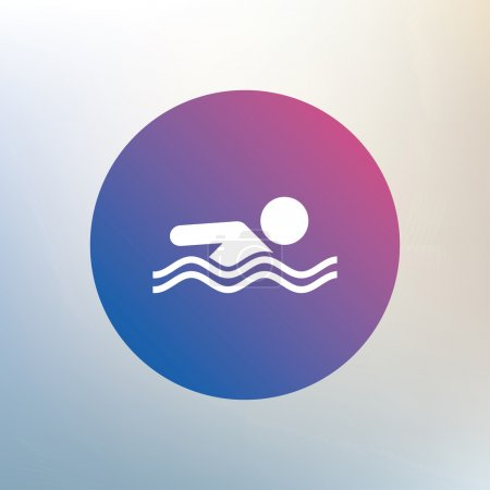 Swimming sign icon.