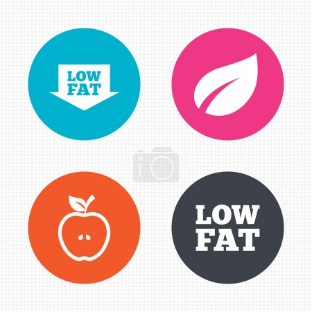 Low fat icons.