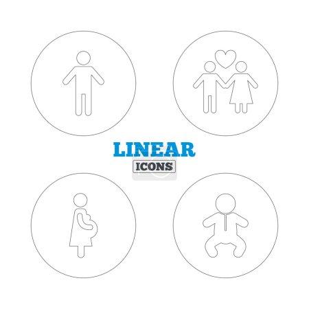 Family lifetime icons.