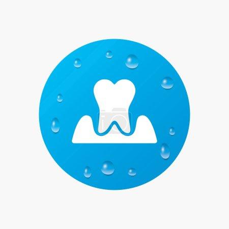 Parodontosis tooth sign icon.