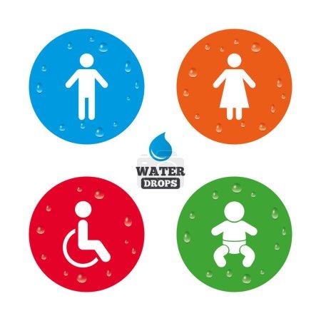 WC toilet icons.