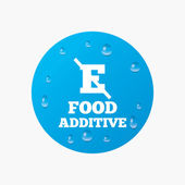 Food additive sign icon