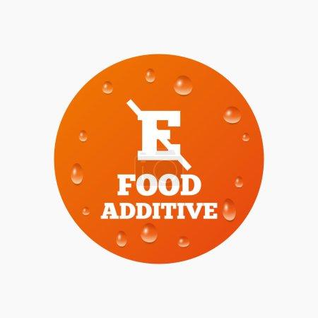 Food additive sign icon.
