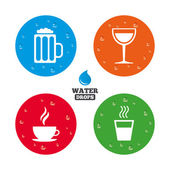 Drinks signs Coffee cup glass