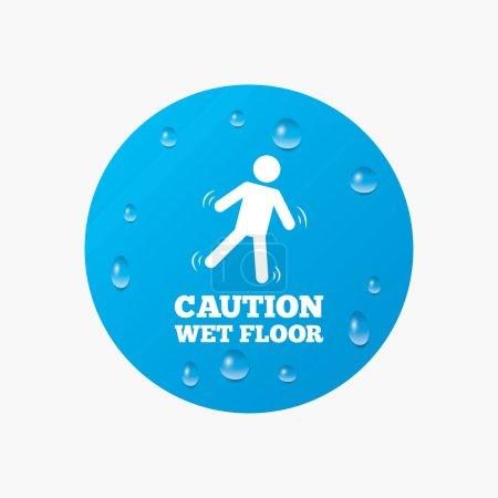 Caution wet floor icon.