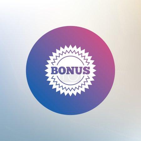 Bonus sign icon.