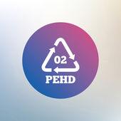 Hd-pe 02 sign icon