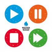 Player navigation media icons set