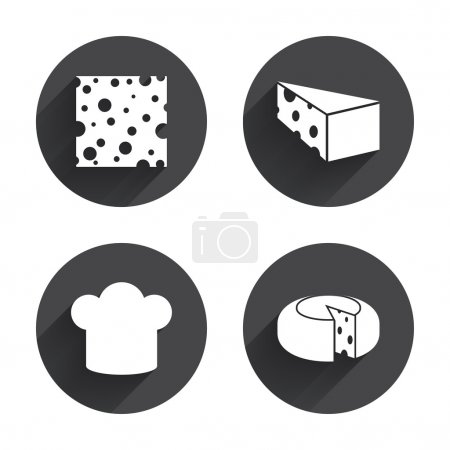 Cheese, cook, food icons