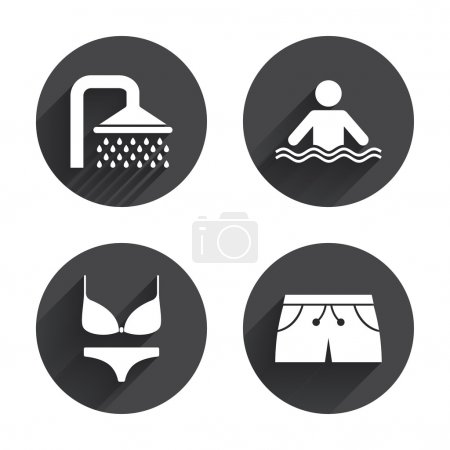 Swimming pool icons.