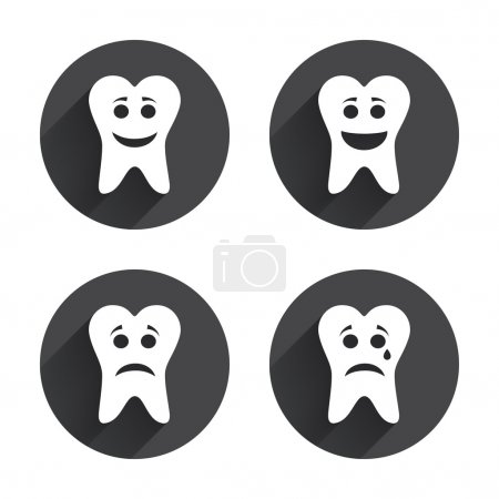 Tooth, health, dental care icons