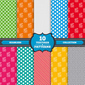 Patterns with  Expiration date product icons