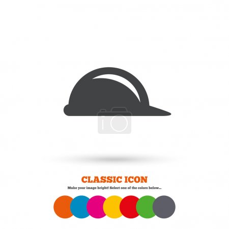 Construction helmet icon.