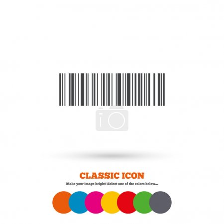 Bar code sign icon.