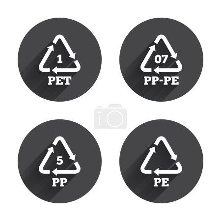 PET, PP-pe and PP.