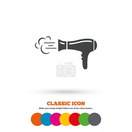 Hairdryer sign icon.