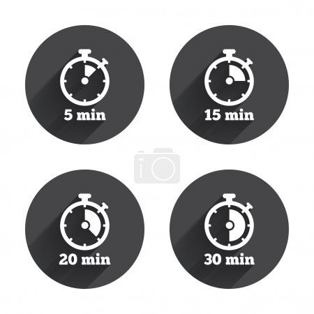 Timer icons.  stopwatch symbol.