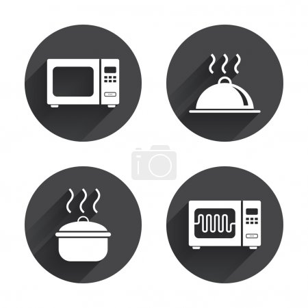 Microwave oven icon.