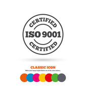 ISO 9001 certified sign