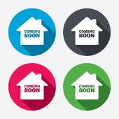 Homepage coming soon signs